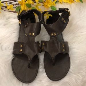 Brown Studded Sandals